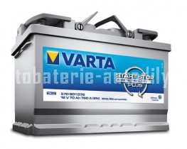 Autobaterie VARTA START - STOP PLUS AGM 12 V 70 Ah 760 A 570901