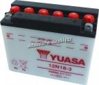Motobaterie YUASA STANDARD 12 V 18 Ah 190 A 12N18-3