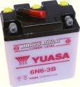 Motobaterie YUASA STANDARD 6 V 6 Ah 6N6-3B