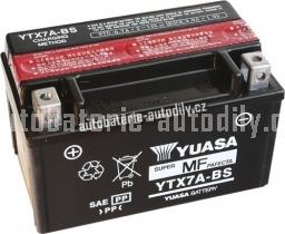 Motobaterie YUASA SUPER MF 12 V 6 Ah 90 A YTX7A-BS