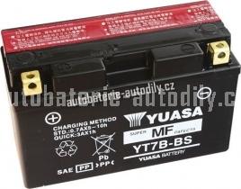 Motobaterie YUASA SUPER MF 12 V 6.5 Ah 85 A YT7B-BS