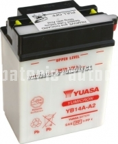 Motobaterie YUASA YUMICRON 12 V 14 Ah 190 A YB14A-A2