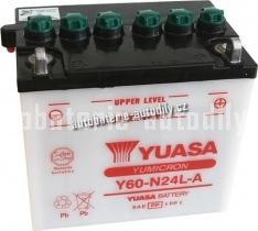 Motobaterie YUASA YUMICRON 12 V 28 Ah 300 A Y60-N24L-A