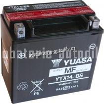 Motobaterie YUASA SUPER MF 12 V 12 Ah 200 A YTX14-BS