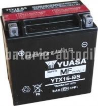Motobaterie YUASA SUPER MF 12 V 14 Ah 230 A YTX16-BS