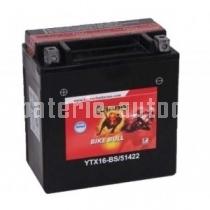 Motobaterie BANNER BIKE BULL AGM 12 V 14 Ah 230 A 51422 YTX16-BS