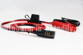 Konektor komfort s indikací stavu baterie - krokosvorky